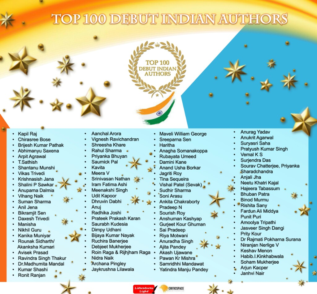 Top 100 Debut Indian Authors | Theliteraturetoday