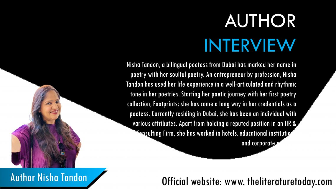 Interview with Nisha Tandon The Literature Today