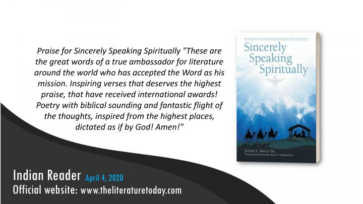 Book Review  Sincerely Speaking Spiritually   Joseph S Spence Sr   Theliteraturetoday   Book Promotion in India