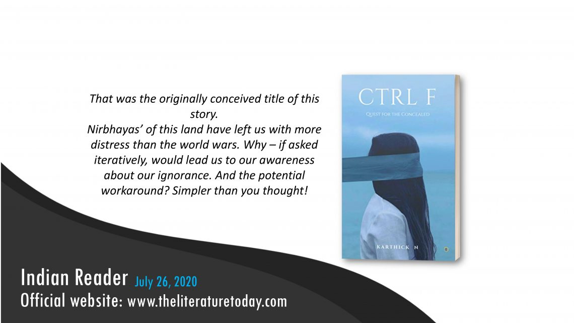 CTRL F: Quest for the Concealed Book Review   Karthick N   The Literature Today