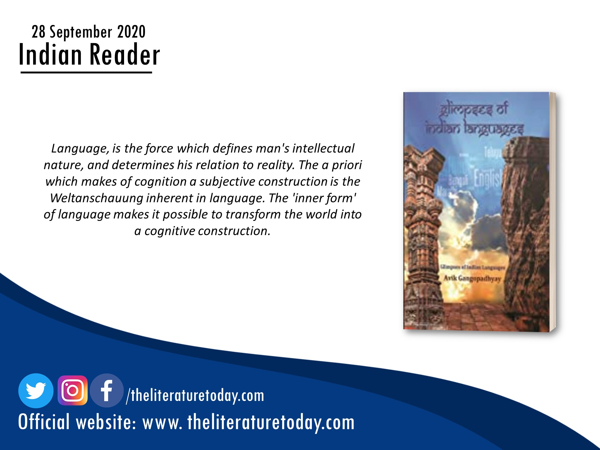 BOOK REVIEW | GLIMPSES OF INDIAN LANGUAGES  |AVIK GANGOPADHYAY