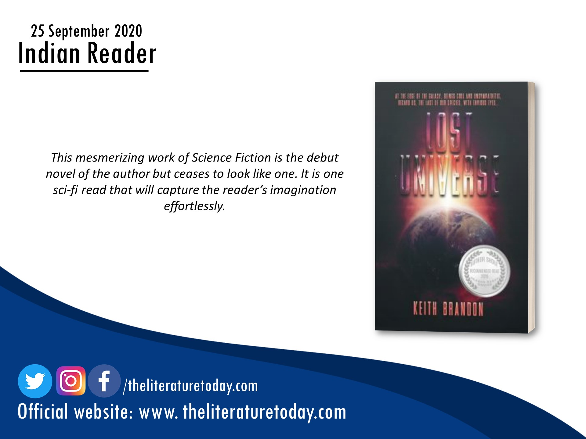 Book Review | Lost Universe By Keith Brandon | The Literature Today