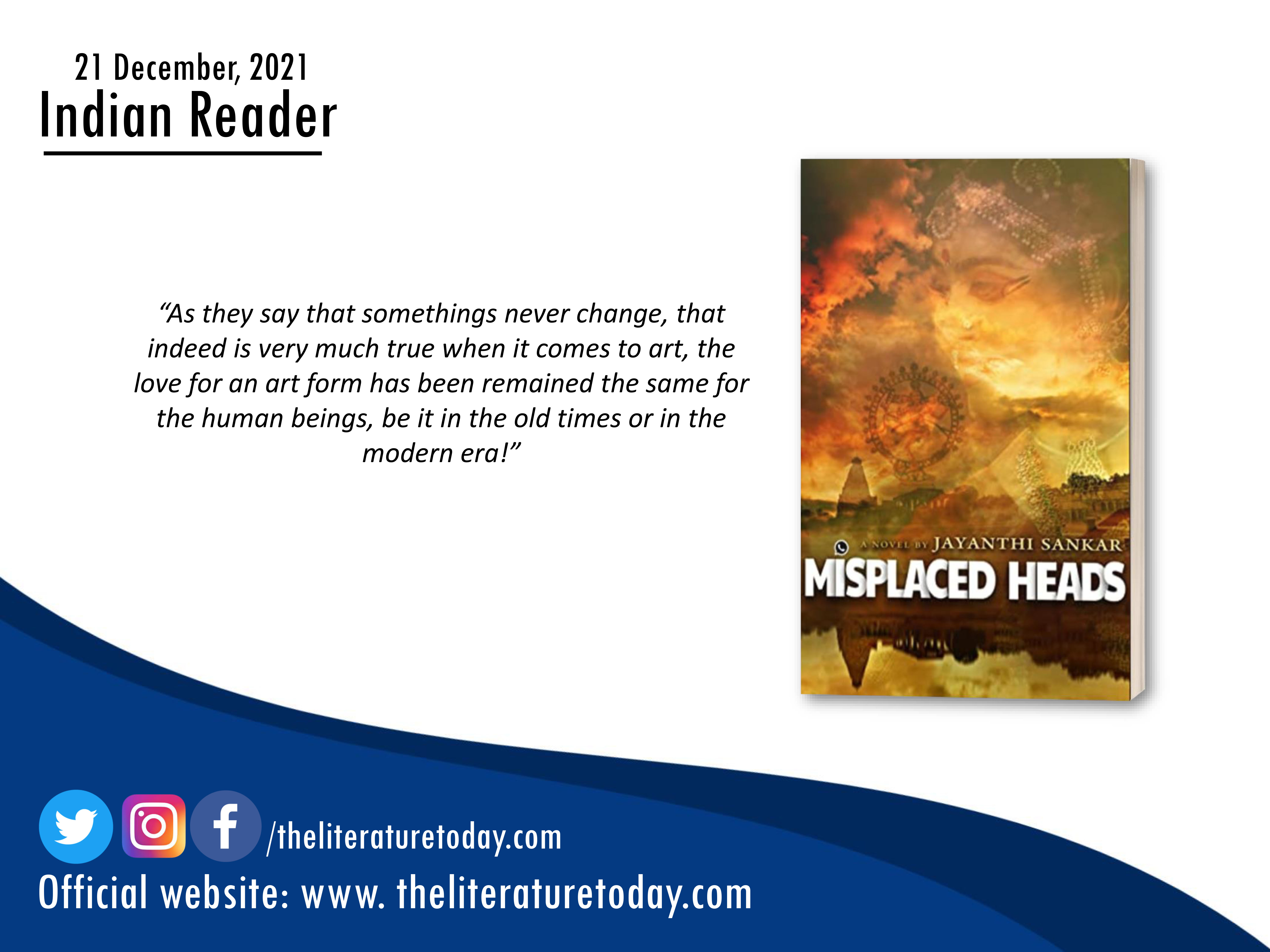 Book Review |Misplaced Heads by Jayanthi Sankar |The Literature Today