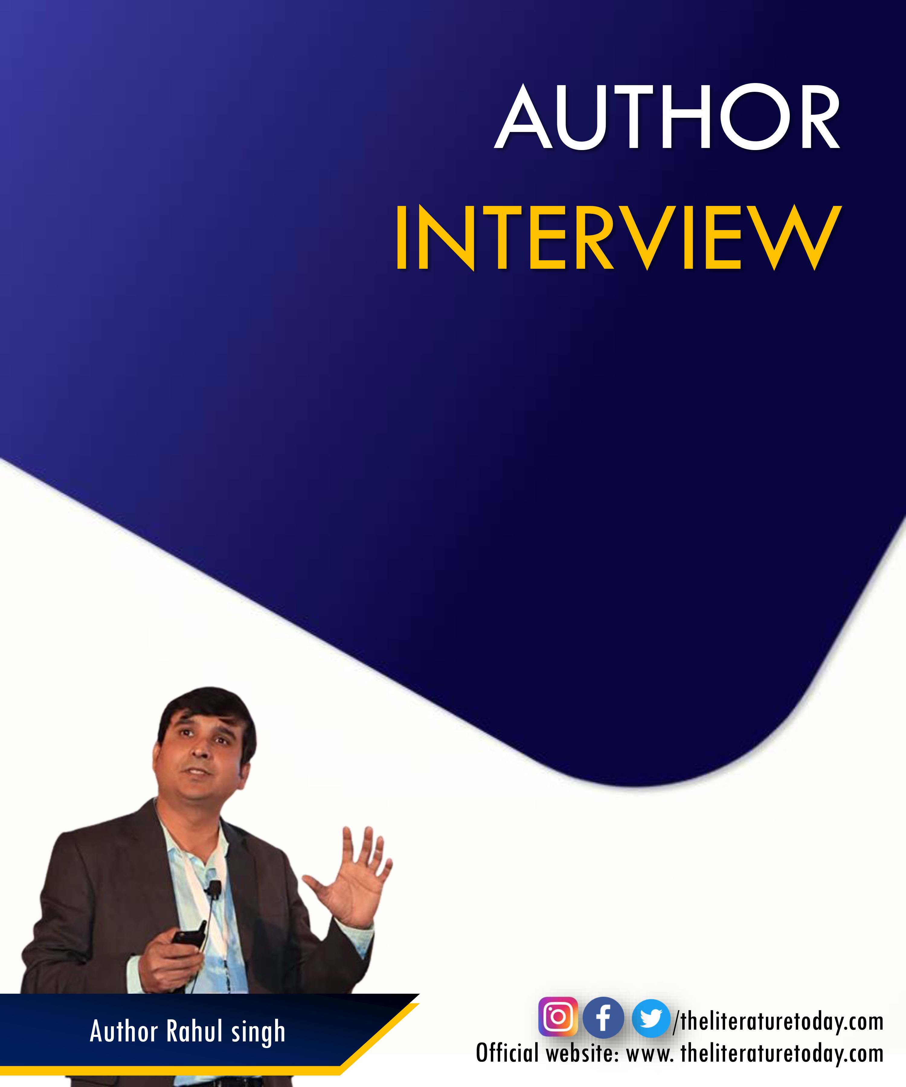 Author Interview | Rahul singh | Evincepub Publishing