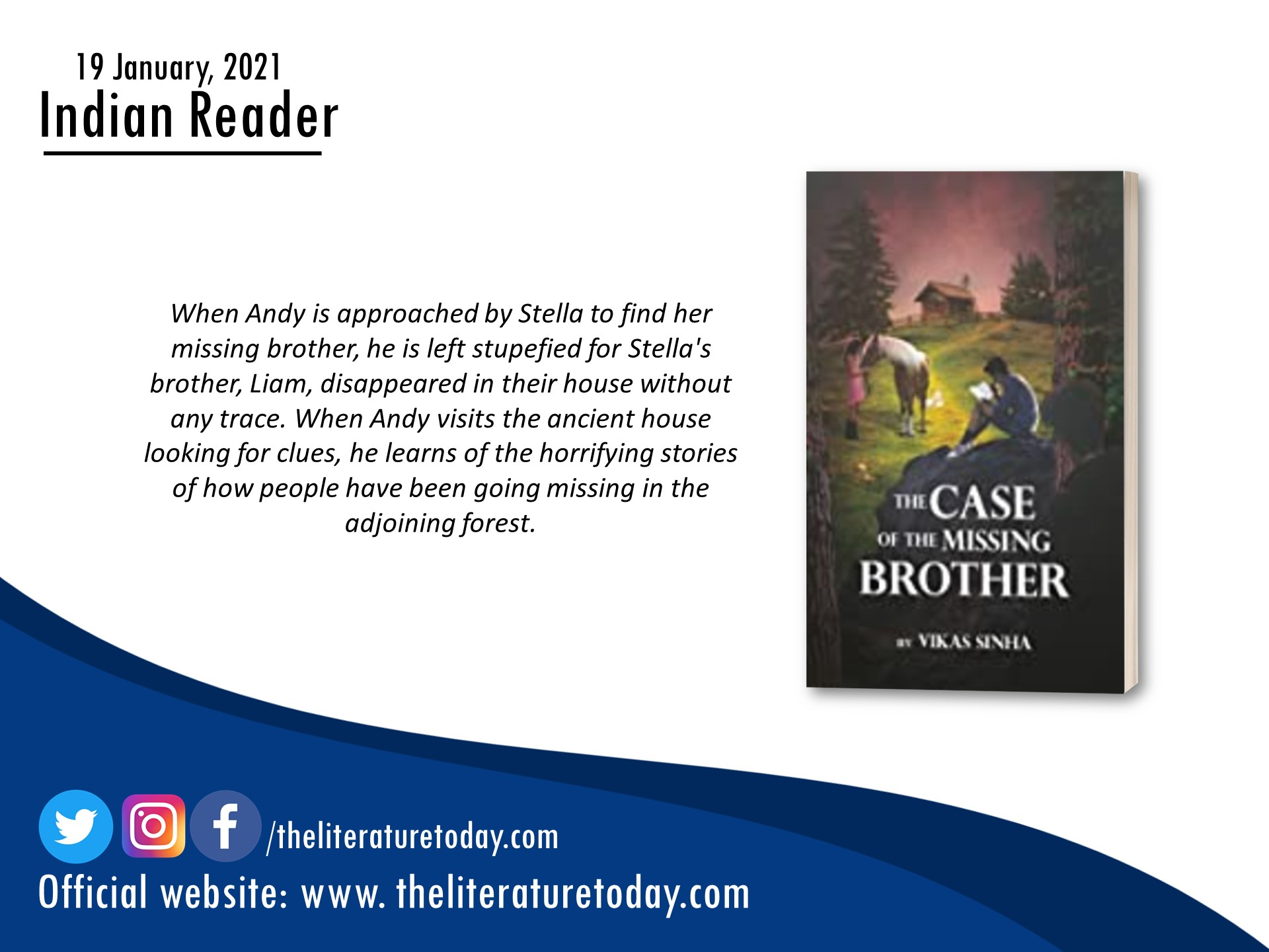 Book Review The Case of the Missing Brother by Vikas Sinha at The Literature Today