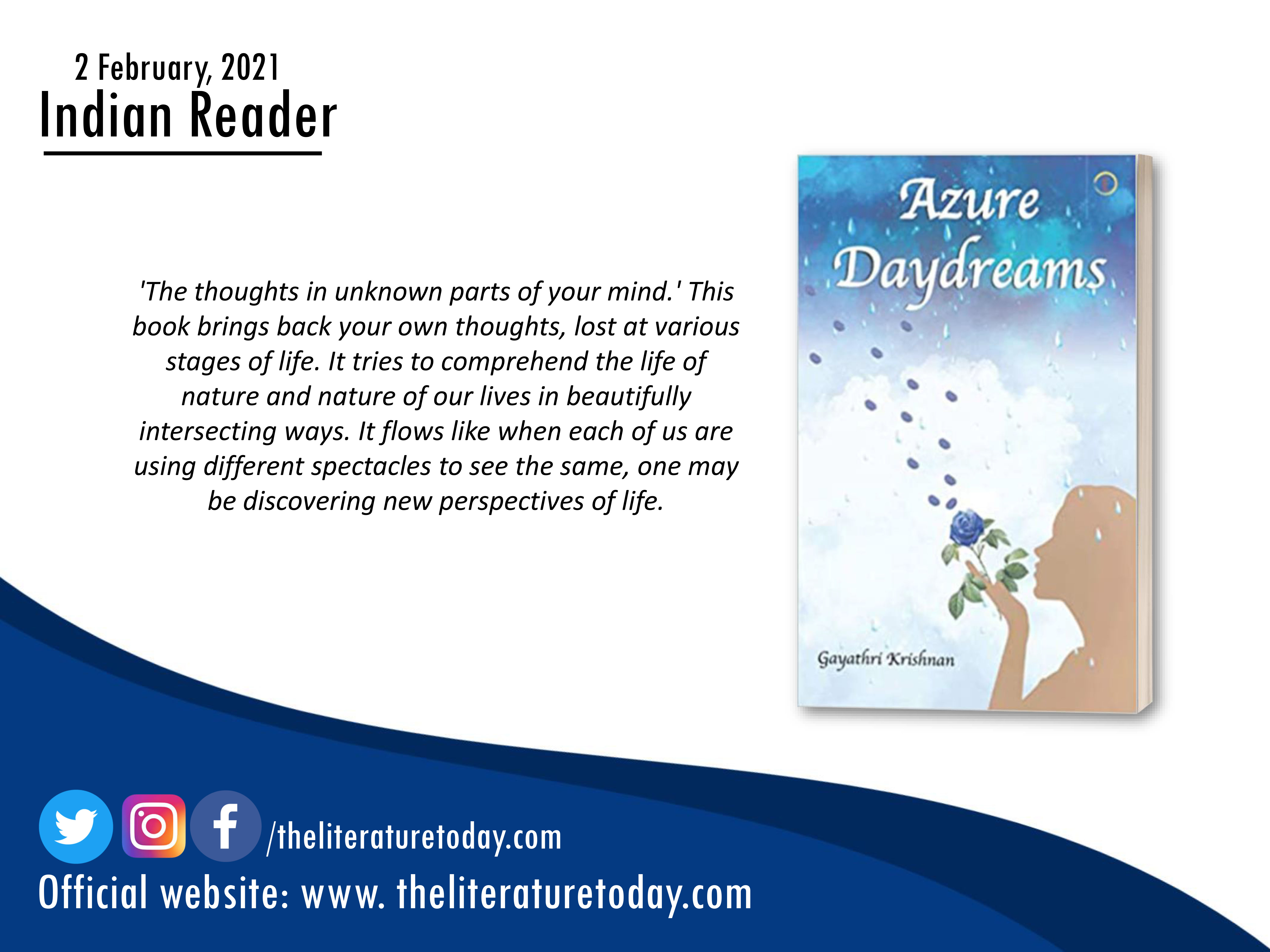 Book Review | Azure Daydreams | The Literature Today