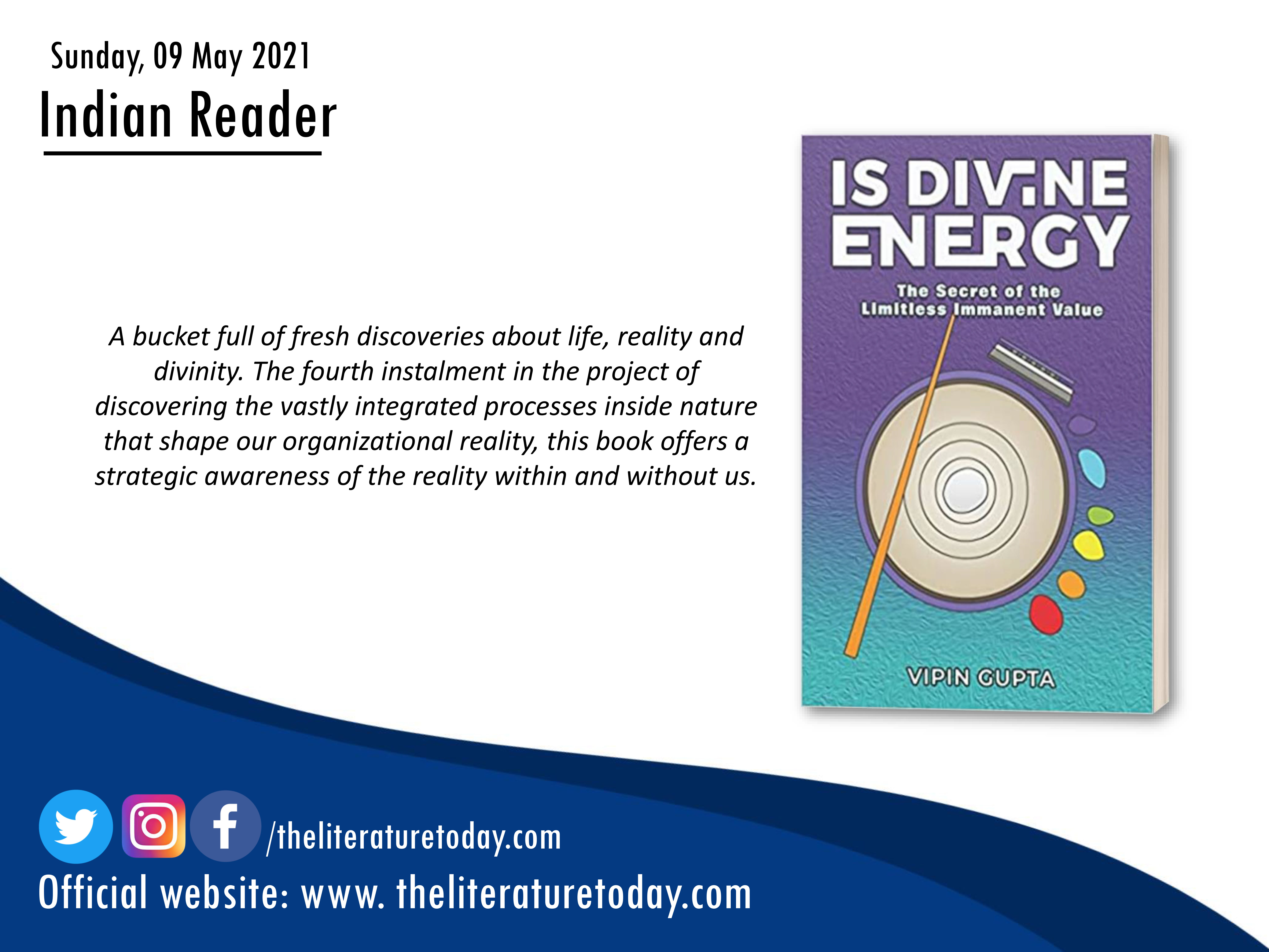 Book Review – Is Divine Energy: The Secret Of The Limitless Immanent Value – The Literature Today