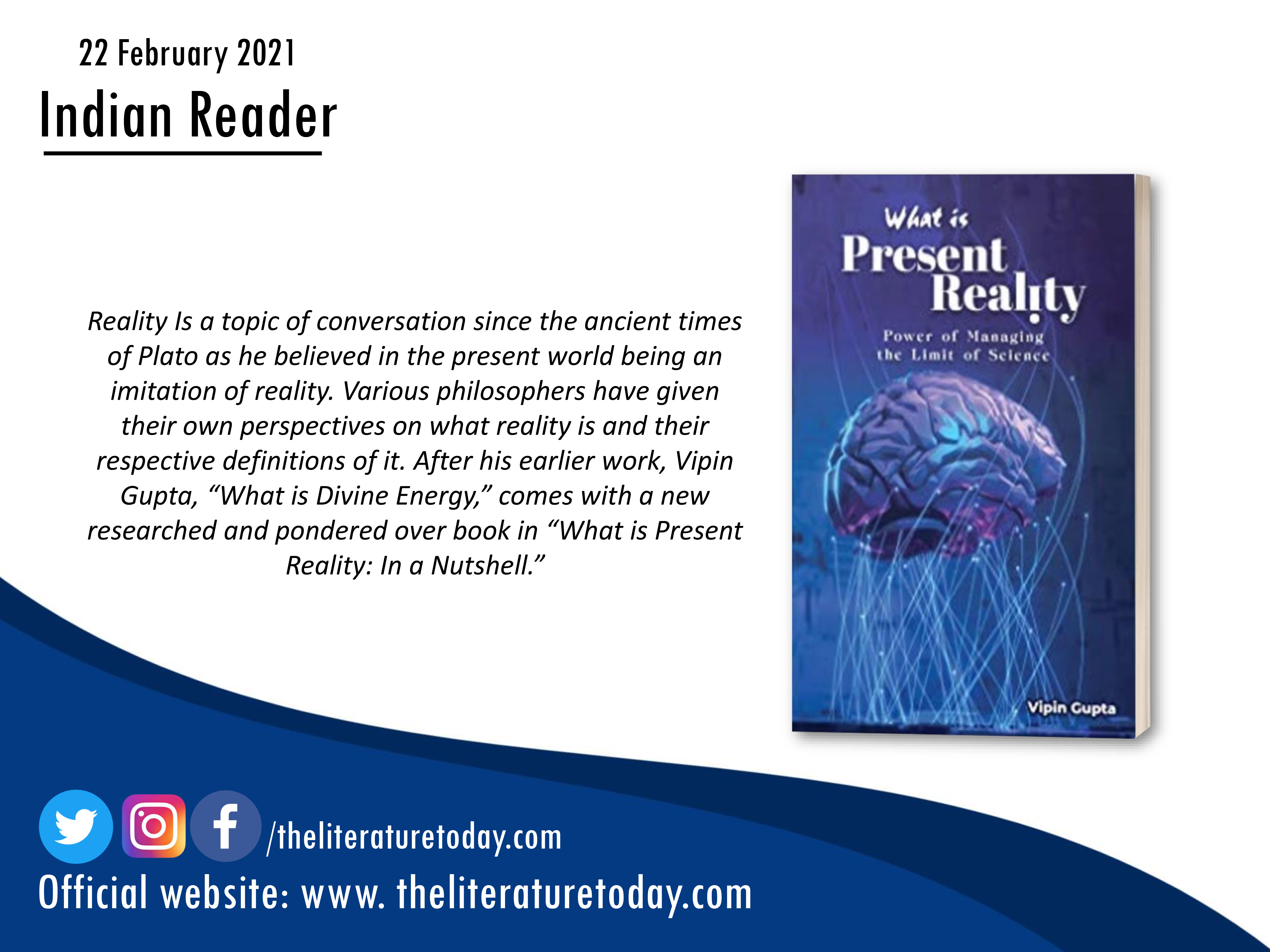 Book Review | What is Present Reality by VIPIN GUPTA | The Literature Today