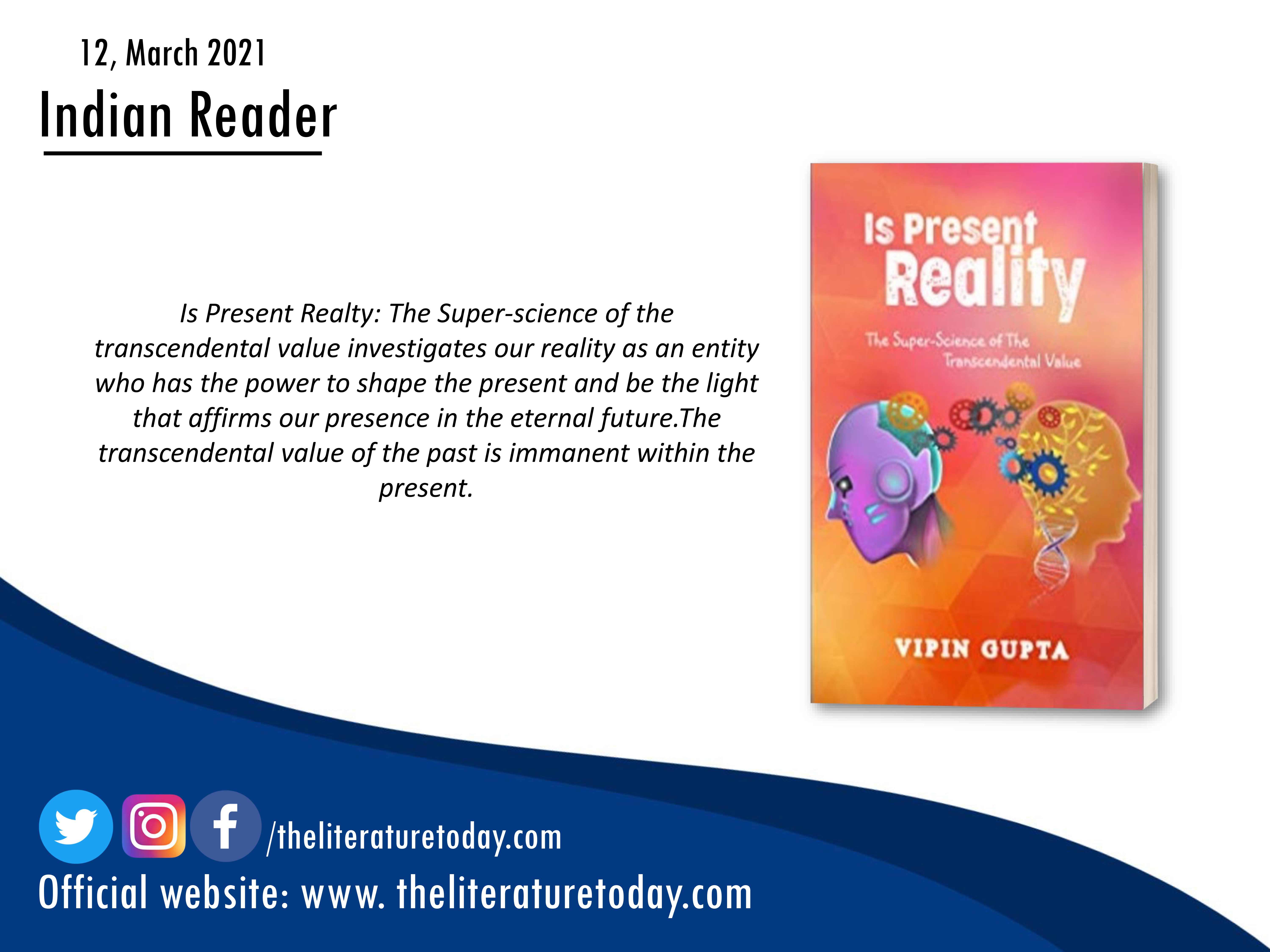 Book Review | Is Present Reality: The Super-Science of the Transcendental Value | The Literature Today