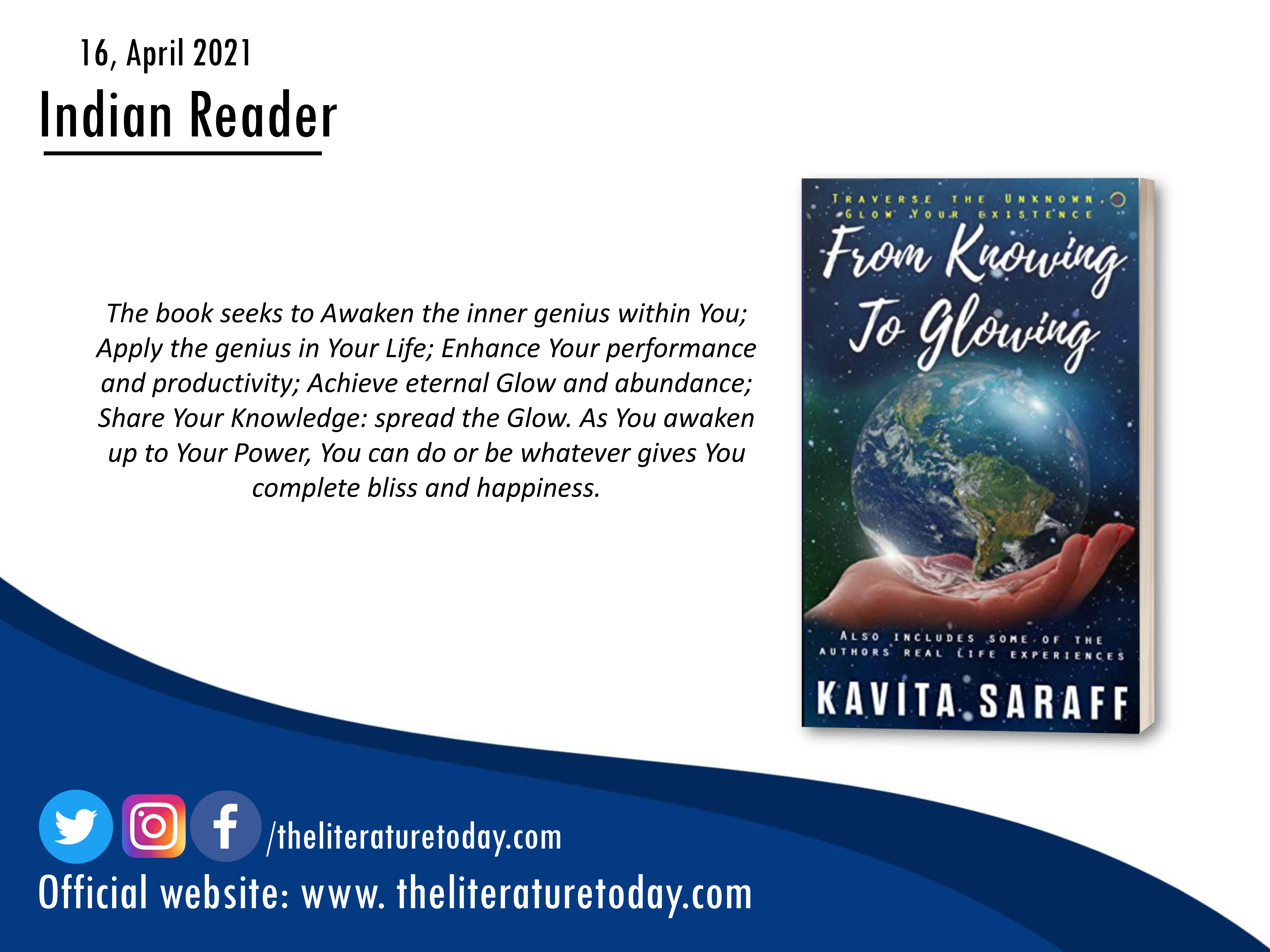 From Knowing to Glowing – Kavita Saraff – Book Review
