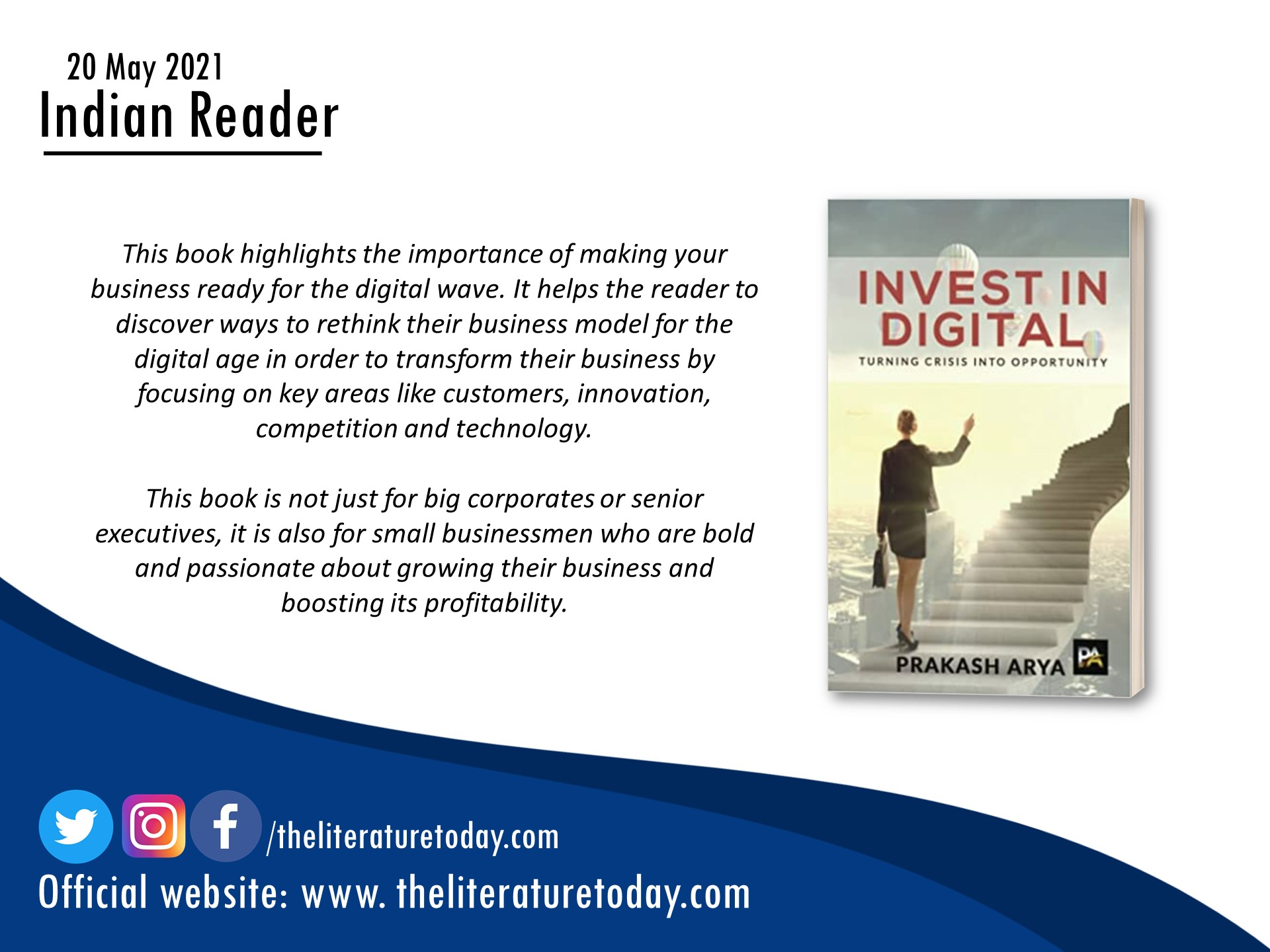 Invest In Digital: Turning Crisis Into Opportunity | Prakash Arya | Book Review